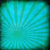Priorità bassa del grunge dell'annata del turchese con i raggi del sole illustrazione vettoriale