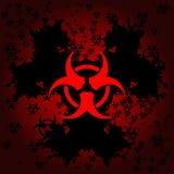 Priorità bassa del grunge di Biohazard illustrazione di stock