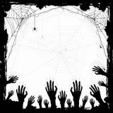 Priorità bassa del grunge di Halloween Fotografie Stock