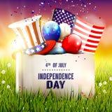 Priorità bassa del grunge di indipendenza Day Immagine Stock