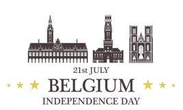 Priorità bassa del grunge di indipendenza Day belgium Immagine Stock Libera da Diritti