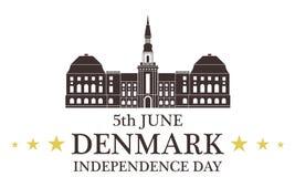 Priorità bassa del grunge di indipendenza Day denmark illustrazione vettoriale