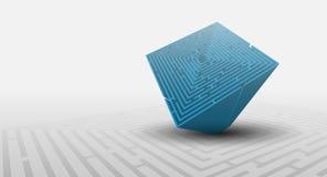 priorità bassa del labirinto 3D Immagini Stock