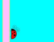 Priorità bassa del Ladybug Immagini Stock