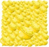 Priorità bassa del limone Fotografie Stock Libere da Diritti