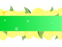 Priorità bassa del limone Fotografia Stock
