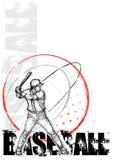 Priorità bassa del manifesto del cerchio di baseball Immagine Stock Libera da Diritti