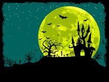 Priorità bassa del manifesto di Halloween Fotografia Stock