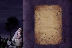 Priorità bassa del manifesto di Halloween con copyspace Fotografia Stock Libera da Diritti