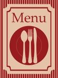 Priorità bassa del menu Fotografie Stock