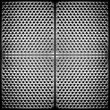 Priorità bassa del metallo punteggiata acciaio Fotografie Stock Libere da Diritti