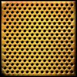 Priorità bassa del metallo punteggiata oro Fotografie Stock Libere da Diritti