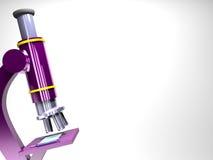 Priorità bassa del microscopio Fotografie Stock