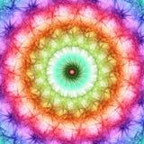 Priorità bassa del mosaico di frattalo dei colori del Rainbow Immagini Stock