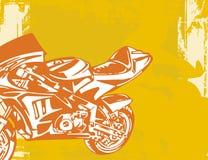 Priorità bassa del motociclo Fotografie Stock Libere da Diritti