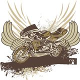 Priorità bassa del motociclo di Grunge Immagine Stock