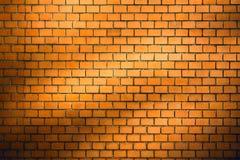 Priorità bassa del muro di mattoni con la scenetta naturale dell'ombra Immagine Stock Libera da Diritti