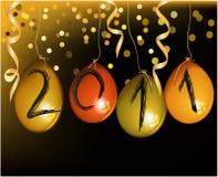 Priorità bassa del nuovo anno con gli aerostati Fotografia Stock Libera da Diritti