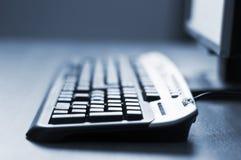 Priorità bassa del particolare della tastiera di calcolatore fotografia stock