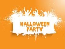 Priorità bassa del partito di Grunge Halloween Fotografie Stock Libere da Diritti