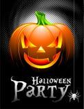 Priorità bassa del partito di Halloween di vettore con la zucca. Fotografia Stock