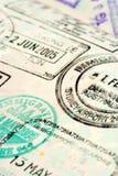 Priorità bassa del passaporto Fotografie Stock