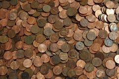 Priorità bassa del penny Immagini Stock Libere da Diritti