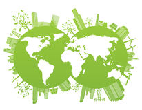 Priorità bassa del pianeta dell'ambiente e di verde Immagine Stock