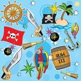 Priorità bassa del pirata di vettore Fotografia Stock Libera da Diritti