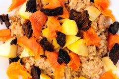 Priorità bassa del porridge della frutta Immagini Stock Libere da Diritti
