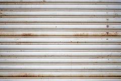 Priorità bassa del portello del metallo Fotografia Stock