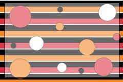 Priorità bassa del puntino di Polka di Stripey Illustrazione Vettoriale