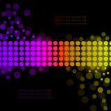Priorità bassa del Rainbow con i cerchi luminosi Fotografie Stock
