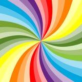 Priorità bassa del Rainbow (vettore incluso) Immagine Stock