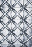 Priorità bassa del reticolo del metallo dello stagno Fotografia Stock