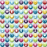 Priorità bassa del reticolo delle icone di app del telefono mobile Fotografia Stock