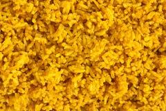 Priorità bassa del riso dello zafferano Fotografia Stock