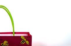 Priorità bassa del sacchetto del regalo fotografia stock