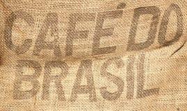 Priorità bassa del sacco dei chicchi di caffè Fotografie Stock Libere da Diritti