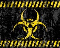 Priorità bassa del segno di biohazard di Grunge illustrazione vettoriale