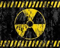 Priorità bassa del segno di radiazione di Grunge Fotografia Stock Libera da Diritti
