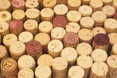 Priorità bassa del sughero del vino Fotografia Stock Libera da Diritti