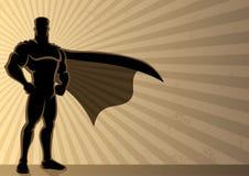 Priorità bassa del supereroe Fotografie Stock Libere da Diritti