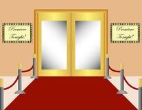 Priorità bassa del tappeto rosso Immagine Stock Libera da Diritti