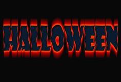 Priorità bassa del testo di Halloween Fotografia Stock Libera da Diritti