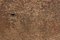Priorità bassa del tetto di mattonelle della chiesa Fotografia Stock