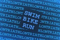 Priorità bassa del Triathlon Fotografia Stock Libera da Diritti