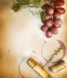 Priorità bassa del vino Fotografia Stock Libera da Diritti