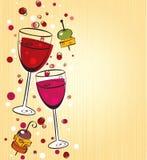 Priorità bassa del vino Immagine Stock Libera da Diritti