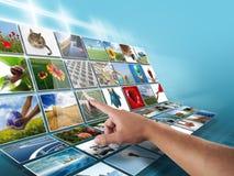 Priorità bassa del visualizzatore digitale Fotografia Stock